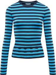 Paco Rabanne Striped Sweater Blue