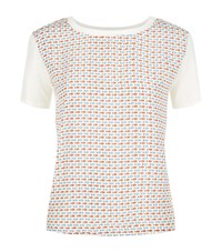 Max Mara Weekend Geranio Poisson Print Silk T Shirt Female White