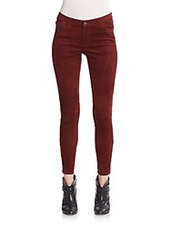 Rebecca Minkoff Philly Suede Skinny Pants Wine