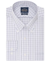 Eagle Slim Fit Non Iron White And Blue Multi Check Dress Shirt