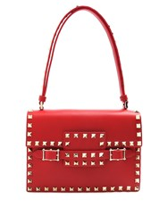 Valentino Rockstud Small Leather Bag Red