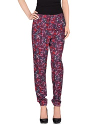 Naf Naf Casual Pants Purple