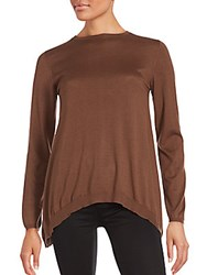Brunello Cucinelli Solid Cashmere Blend Pullover Brown
