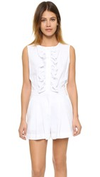 Boutique Moschino Ruffle Front Romper White