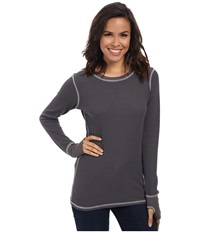 Allen Allen L S Thumbhole Tee Thermal Crew Flint Women's Long Sleeve Pullover Beige