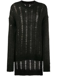 Uma Wang Oversized Distressed Jumper Brown