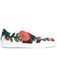 Gucci Ace Embroidered Low Top Sneakers White