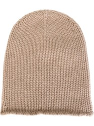 Friendly Hunting Ribbed Knit Beanie Nude And Neutrals