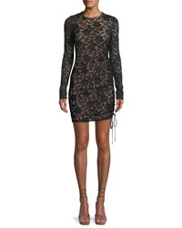 Bailey 44 Disinformation Ruched Lace Mini Dress Black