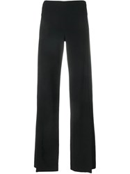 The Row Slit Trousers Black