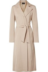 Akris Teri Belted Cotton And Silk Blend Coat Beige