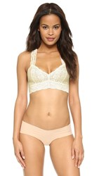 Free People Lace Racer Back Bra Ivory