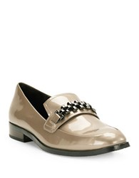 Donald J Pliner Leeza Chain Accented Loafers Almond