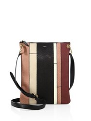 A.L.C. Colorblock Watersnake Leather Messenger Bag Multi
