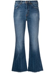 Pt05 Cher Cropped Flares Blue