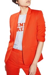 Topshop Women's Tailored Suit Jacket Orange