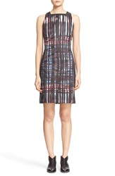 Tomas Maier Women's Graffiti Tartan Print Satin Dress