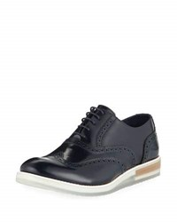 Bugatchi Palermo Brogue Leather Oxford Blue