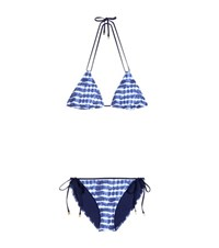 Tory Burch Printed Triangle Bikini Blue