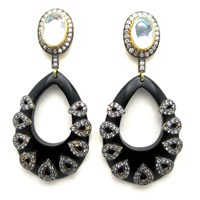 Meghna Jewels Maya Earrings Black