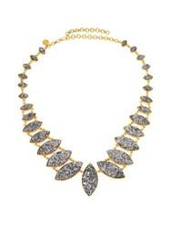 Shana Gulati Jodhpur Sliced Raw Diamond And 18K Yellow Gold Vermeil Necklace Gold Silver