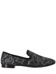 Giuseppe Zanotti Crystal Mickey Mouse Suede Loafers