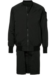 Julius Panel Insert Bomber Jacket Black