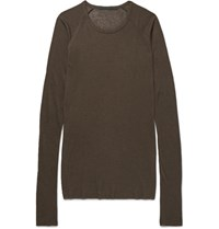 Haider Ackermann Ribbed Knit Weater Brown