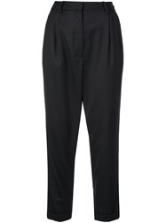 Nili Lotan High Waisted Tailored Trousers Black