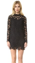 Theperfext Long Sleeve Crochet Dress Black