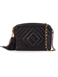 Chanel Vintage Single Chain Shoulder Bag Black