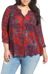 Lucky Brand Plus Size Women's Vintage Print Top