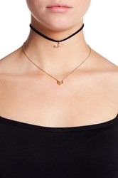 La Rocks Chevron And White Quartz Charm Choker Set No Color