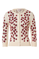 Lwren Scott Cream Multi Embroidered Cashmere Blend Cardigan