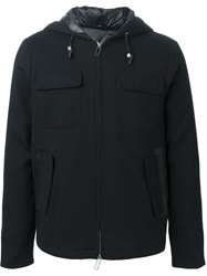 Paolo Pecora Zip Wind Breaker Jacket Black