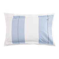 Tommy Hilfiger White And Blue Striped Pillowcase