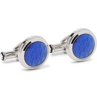 Montblanc Le Petit Prince Stainless Steel Resin Cufflinks Silver