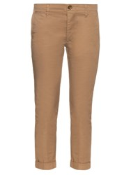 Visvim Cropped Skinny Fit Cotton Chino Trousers Beige