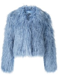 Unreal Fur Fitted Textured Jacket 60