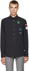 Raf Simons Navy Patches Shirt