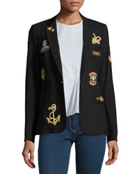 Veronica Beard Classic Patch Jacket Black