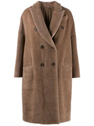 Brunello Cucinelli Double Breasted Coat Brown