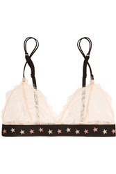 Love Stories Darling Stretch Lace Soft Cup Triangle Bra Cream