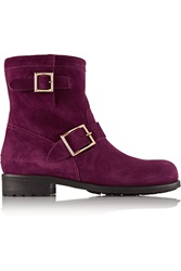 Jimmy Choo Youth Suede Boots Purple