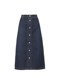 Alexa Chung For Ag The Cool Denim A Line Midi Skirt