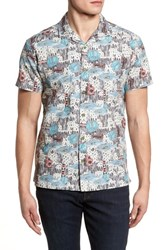 Kahala Scales Trim Fit Print Sport Shirt