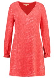 Michael Michael Kors Talia Croc Summer Dress Coral Reef