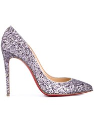 Christian Louboutin Pigalle Glitter Pumps Pink And Purple