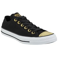 Converse Chuck Taylor All Star Ox Toe Cap Trainers Black Gold