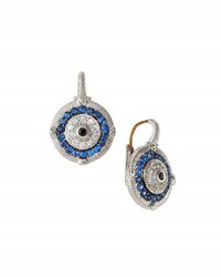 Judith Ripka Sapphire Evil Eye Drop Earrings Multi
